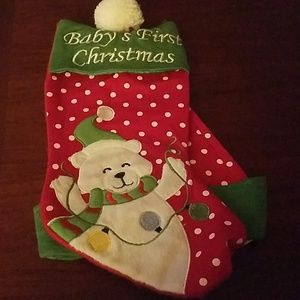 Polar Bear 1st Christmad Hat Set
